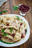 Cherry dumplings with mint Royalty Free Stock Photo