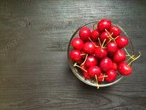 Cherry en för platta white sött Fotografering för Bildbyråer