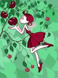 Cherry fairy Stock Images