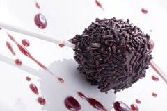 Cherry flavored cakepops Royalty Free Stock Image
