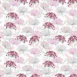 Cherry Flower Art Seamless Pattern cor-de-rosa ilustração stock