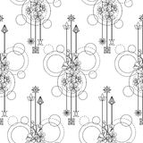 Cherry Flowers Seamless Pattern stock illustratie