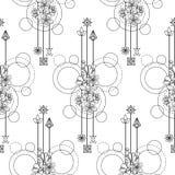 Cherry Flowers Seamless Pattern Royalty Free Stock Photo