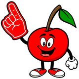 Cherry with Foam Finger Royalty Free Stock Photo