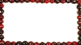 Cherry frame. Light and dark red cherries forming a frame Stock Photography
