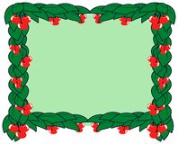 Frame with leaves and cherries. A natural frame composed with cherries and leaves. a nice idea for projects about this fruit Royalty Free Stock Image