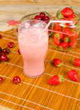 Cherry fresh milkshake Stock Image