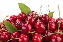 Cherry fruit. Close up on cherry fruit stock image