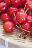 Cherry fruit. Close - up sweet red cherry fruit royalty free stock photography