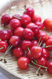 Cherry fruit. Close - up sweet red cherry fruit stock photography