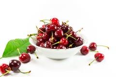 Cherry Fruit d'isolement Photo libre de droits