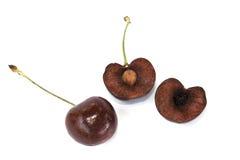 Cherry fruit isolated Stock Photos