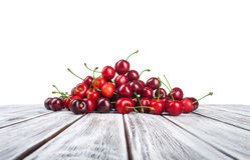 Cherry fruit. Isolated on white background royalty free stock photo