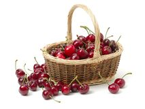 Cherry fruit. Isolated on white background stock images