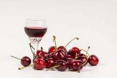 Cherry fruit juice Stock Images