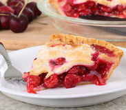 Cherry Fruit Pie Stock Photography