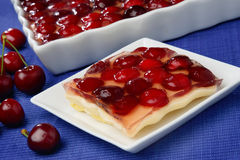 Cherry fruit pie Royalty Free Stock Photography