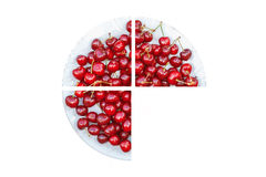 Cherry fruit plate. Concept. Stock Image