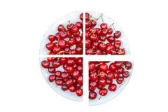 Cherry fruit plate. Concept. Stock Images