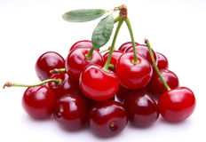 Cherry. Fruit on white background