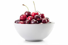 Cherry fruit in white dish Stock Image
