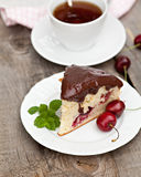 Cherry fruits cake Stock Images