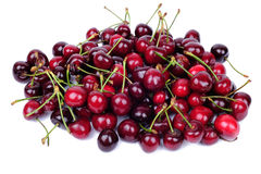 Cherry fruits isolated on white Royalty Free Stock Photo