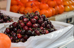 Cherry fruits for sale stock photos