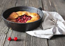 Cherry galette royalty free stock images