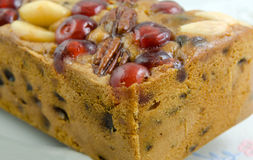 Cherry Genoa Cake Stock Photo