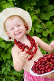 Cherry girl Royalty Free Stock Photography