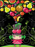 Cherry girl (fruity series). Vector Cherry girl (fruity series vector illustration