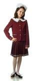 The cherry girl in a school uniform Stock Photos