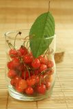 Cherry in glass Royalty Free Stock Photo
