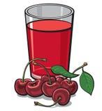Cherry glass juice royalty free illustration