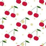 Cherry and gold glitter polka dot Stock Photo