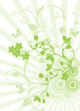 Cherry green blossom background Royalty Free Stock Photos