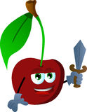 Cherry guard with sword Stock Image