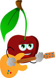 Cherry guitar player Royalty Free Stock Photos