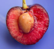Cherry half Royalty Free Stock Photography
