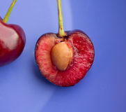 Cherry half Stock Image