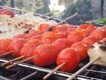 Cherry tomato , halloumi Royalty Free Stock Image
