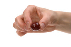 Cherry on hand Royalty Free Stock Photos