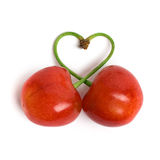 Cherry heart Royalty Free Stock Photo