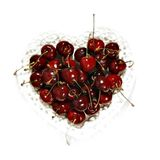 Cherry heart Stock Photos