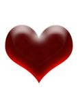 Cherry heart Stock Images