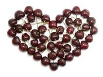 Cherry heart Royalty Free Stock Photos