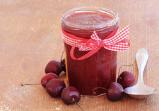 Cherry homemade jam Royalty Free Stock Images