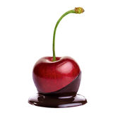 Cherry in hot chocolate Royalty Free Stock Photo