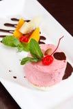 Cherry ice cream Stock Photos